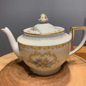Vintage Noritake China Charon Gold Luster Teapot